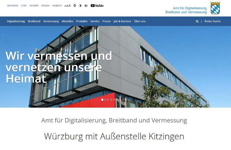 Link zur Webseite des Vermessungsamtes Würzburg